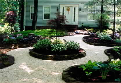 landscaping lawn beds mulch planting